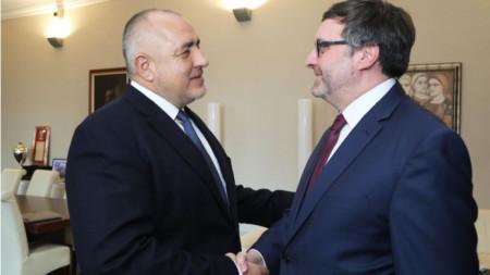 Бойко Борисов и Матю Палмър