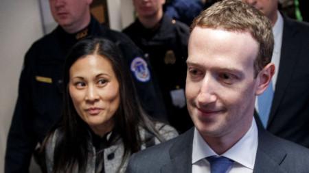 Марк Зукърбърг и съпругата му Присила Чан
