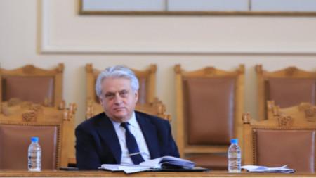 Bulgaria's caretaker Minister of Interior Boyko Rashkov