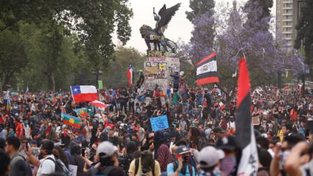 Протест в Чили.