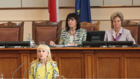 Diana Kovaçeva në Parlament