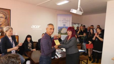Асен Златев на гости на Спортното училище в Пловдив