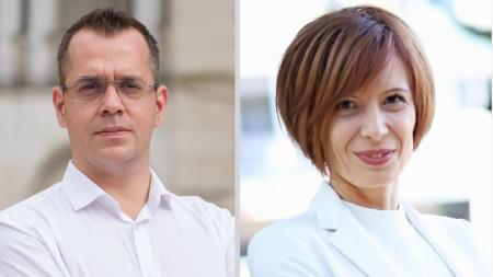 На балотаж за кмет на Добрич бяха Йордан Йорданов (вляво), издигнат от ДБГ и други политически сили и Надежда Петкова - ГЕРБ, СДС.