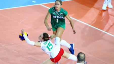 2:2 гейма в първата контролата на волейболистките ни срещу Хърватия
