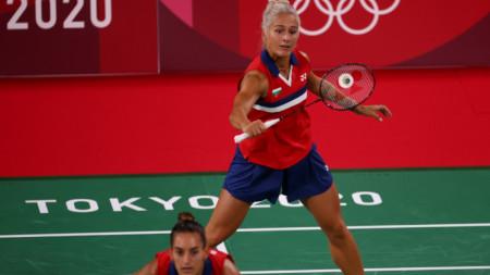 Габриела Стоева удря перото от бекхенд.