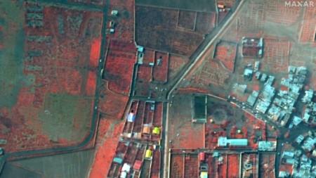 Сателитна снимка от мястото на катастрофата на украинския боинг.