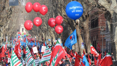 Националната профсъюзна демонстрация 09 февруари 2019.