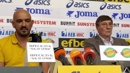 Георги Глушков (вдясно) съобщи новината.