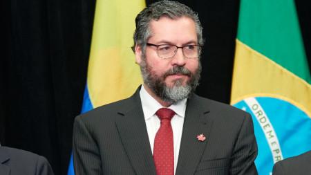 Бразилският министър на външните работи Ернесто Араужо.