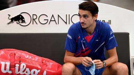 Лоренцо Сонего игра финал във Виена миналата седмица.