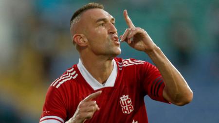 Мартин Камбуров вкара два гола на Славия