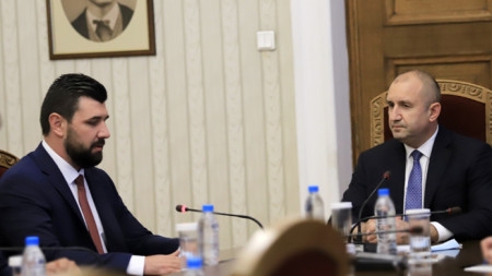Rumen Radev (dcha.) y Pétar Kolev