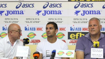 Румен Стоилов, Ивайло Иванов и Даме Стойков (отляво-надясно)