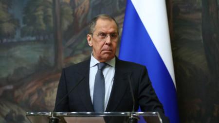 Външният министър на Русия Сергей Лавров