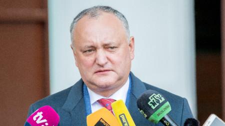Президентът на Молдова Игор Додон