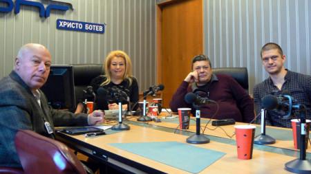 Захари Генов, Анелия Торошанова, Пламен Димитров и Владимир Пенков (отляво надясно)