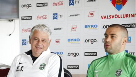 Стойчо Стоев и Георги Терзиев по време на пресконференцията.