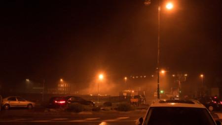 Валежи снощи в ирландския град Корк, където заради бурята Атия бяха отменени 20 полета.