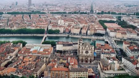 Изглед към френския град Лион