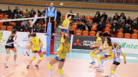 Марица спечели с 3:0 в отложения мач.