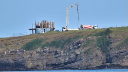 """Местността """"Поляните"""" над скалната забележителност известна като """"Корабите"""" край Синеморец."""