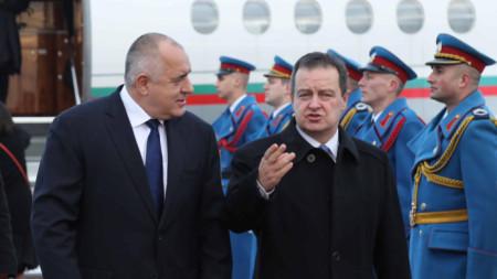 Борисов и Дачич в по-дружелюбна атмосфера