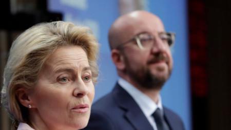 Премиерът Бойко Борисов разговаря по телефона с председателите на Еврокомисията и Европейския съвет Урсула фон дер Лайен и Шарл Мишел.