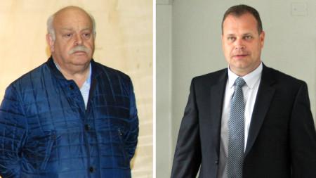 Бившите директори на АПИ Дончо Атанасов и Лазар Лазаров (вдясно)