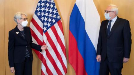 Уенди Шърман и Сергей Рябков