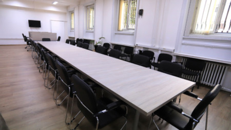 Медийният център в новата сграда на парламента.