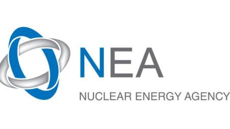 Лого на Агенцията за ядрена енергия на Организацията за икономическо сътрудничество и развитие (ОИСР).