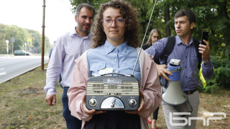Жива верига в подкрепа на свободата на словото от БНР до Телевизионната кула