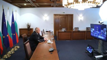 Премиерът Бойко Борисов участва във видеоконферентната среща на лидерите на ЕС.