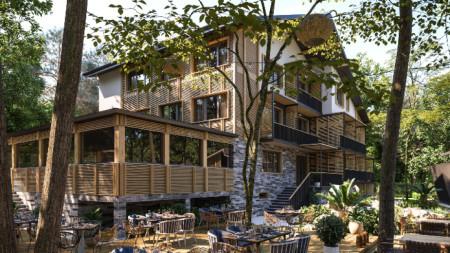 Хотелът в парк