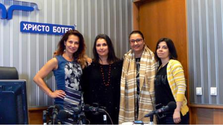 Ива Дойчинова, Мира Баджева, Соня Славчева и Иванка Могилска (отляво надясно)
