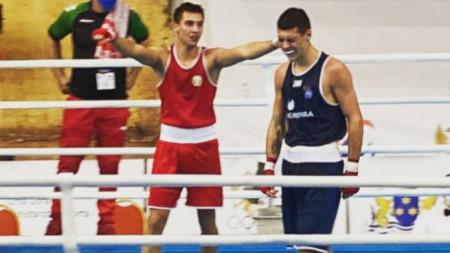 Радослав Росенов (вляво) се класира на европейски финал