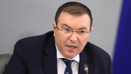 Outgoing health minister Kostadin Angelov