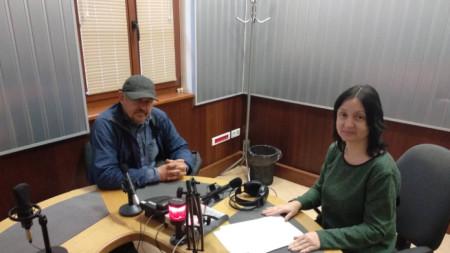Янко Янков в студиото на БНР - Бургас