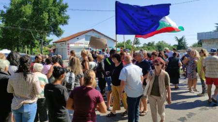 Протест в село Стожер заради безводието