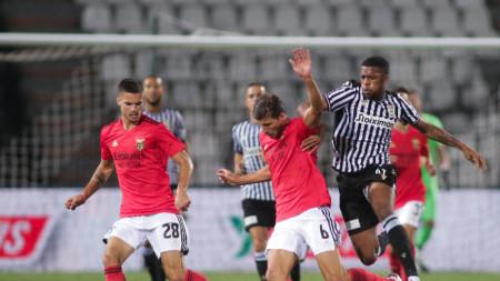 ПАОК победи с 2:1 португалския Бенфика в Шампионската лига