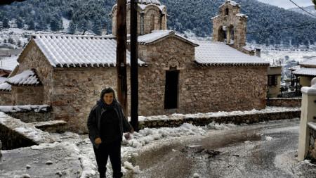 Рекодно ниски температури са отчетени в Гърция.