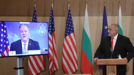 Борисов и Помпейо разговарят чрез видеоконферентна връзка