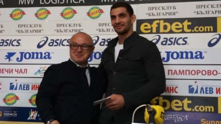 Ивайло Иванов (вдясно) и Румен Стоилов