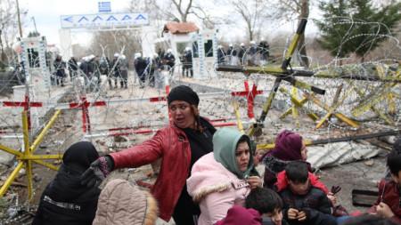 Мигранти на границата на Турция и Гърция - 29 февруари 2020 г.