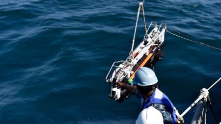 Учение с подводен дрон на американската армия в Персийския залив.
