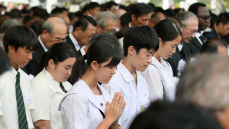 Възпоменателна церемония в Нагасаки.