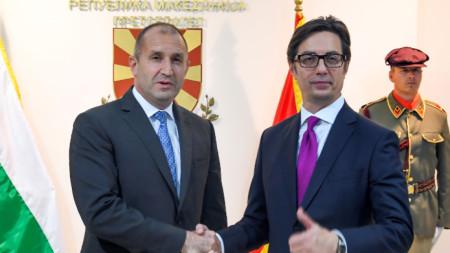 Президентите на България Румен Радев и на Северна Македония Стево Пендаровски - Скопие, 12 май 2019