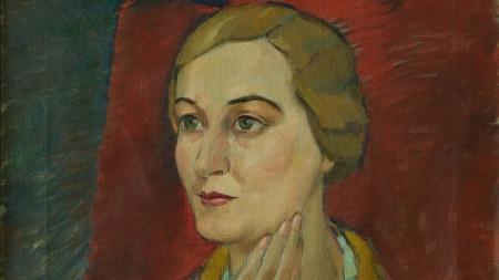 Портрет на Зорка Йорданова, 20-те години на ХХ в. на Маша Живкова - Узунова