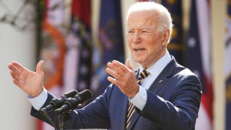 Изказване на Джо Байдън от Розовата градина на Белия дом относно Американския спасителен план