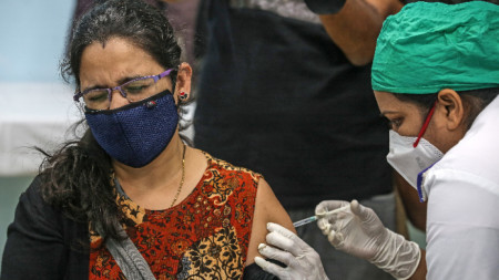 Имунизация в Мумбай, 16 януари 2021 г.